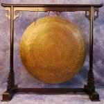 Rosewood finish hand-carved Gong Stand - LARGE